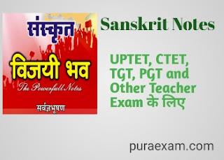 Sanskrit Class Notes PDF