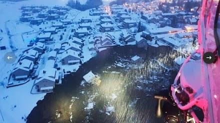 Νορβηγία: Καταπλακώθηκε χωριό από κατολίσθηση - Δεκάδες οι αγνοούμενοι - ΒΙΝΤΕΟ