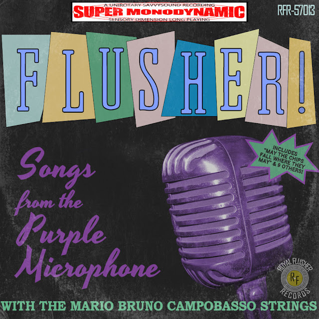 Royal Flusher Songs from the Purple Microphone vintage crooner vinyl lp