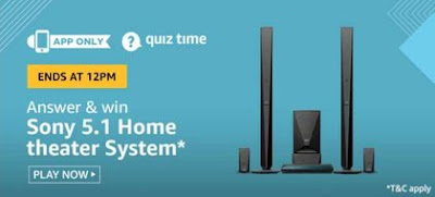 Amazon Quiz Answers Win Sony 5.1 Home Theater