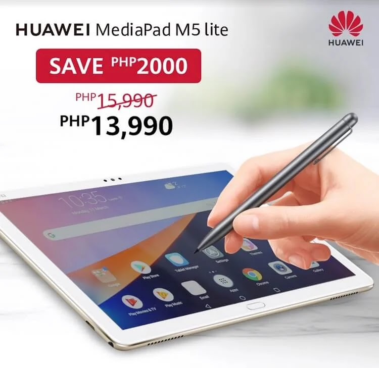 Huawei MediaPad M5 Lite Now Only Php13,990
