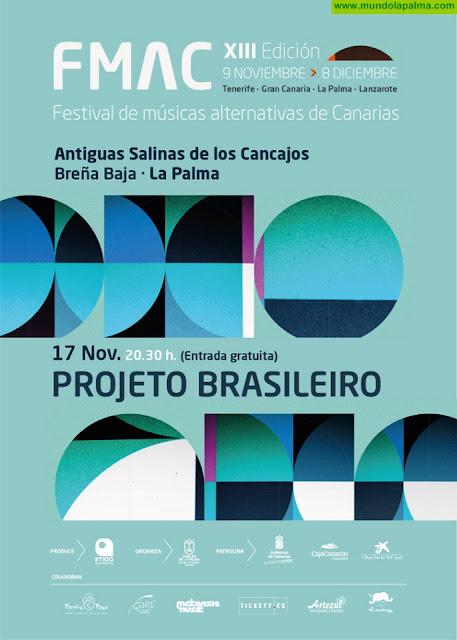 El Festival de Músicas Alternativas de Canarias presenta este sábado en La Palma el concierto gratuito de Projeto Brasileiro