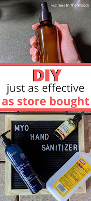 DIY. Homemade hand sanitizer.