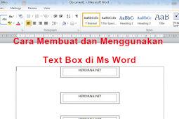 3 Cara Membuat dan Menggunakan Text Box di Ms Word