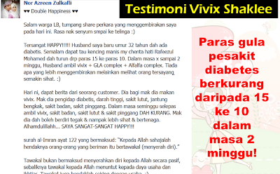 Image result for testimoni vivix diabetes