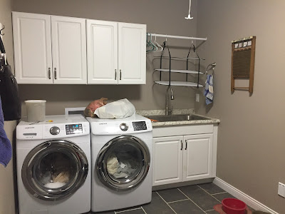 #millsnewhouse, laundry room, drying racks