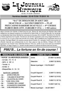 programme quinté Pronostic dimanche 29/08/2021