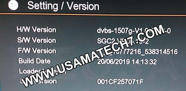 1507G NEW SOFTWARE | 1507G SGC2 RECEIVER SOFTWARE UPDATE