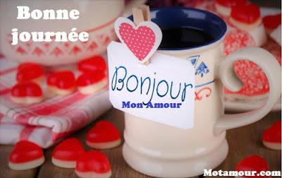 carte bonjour mon amour