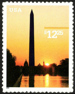 USA $12.25 Washington Monument 2001