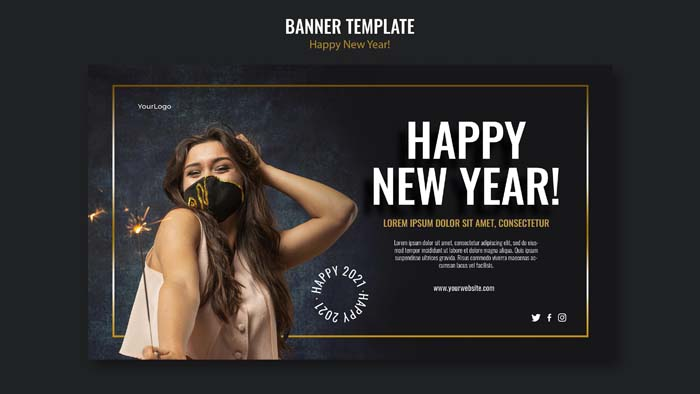 Banner Template New Year Celebration