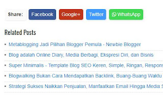 Share Media Sosial plus WhatsApp (WA) Tanpa Javascript - Fast Loading