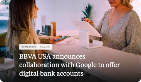BBVA USA cooperates with Google