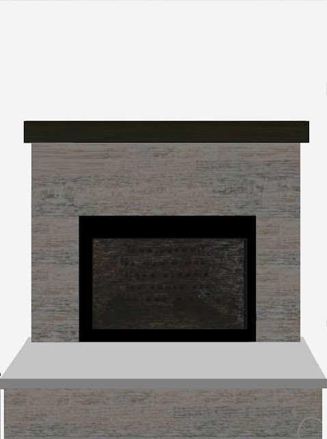 Mountain cottage, reno, living room reno, fireplace, diy