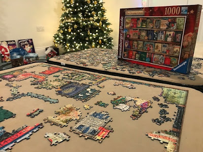 Doing a Christmas jigsaw
