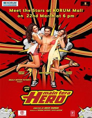 Main Tera Hero 2014 Hindi 400MB BRRip 720p ESubs HEVC
