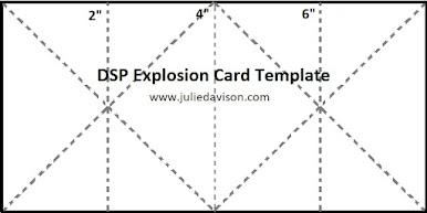 Designer Paper Explosion Card Template ~ www.juliedavison.com