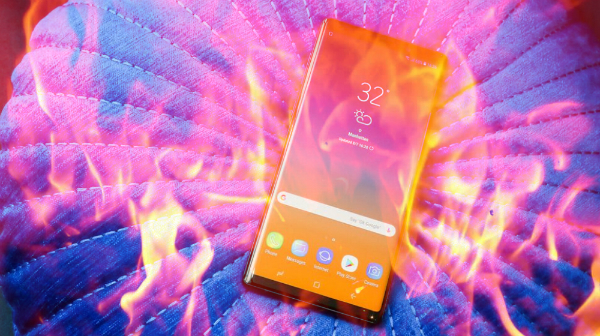 تقارير حول تسبب Galaxy Note 9 في حادثة خطيرة
