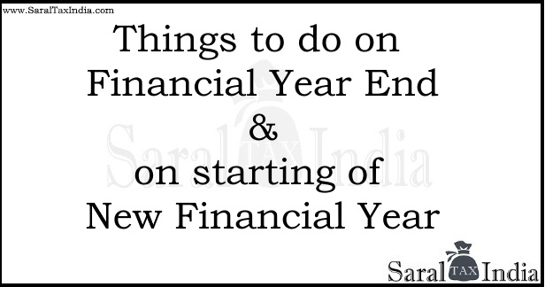 Things to do on Financial Year End