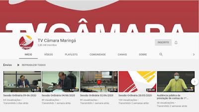 Canal da Câmara de Maringá no YouTube. Café com Jornalista
