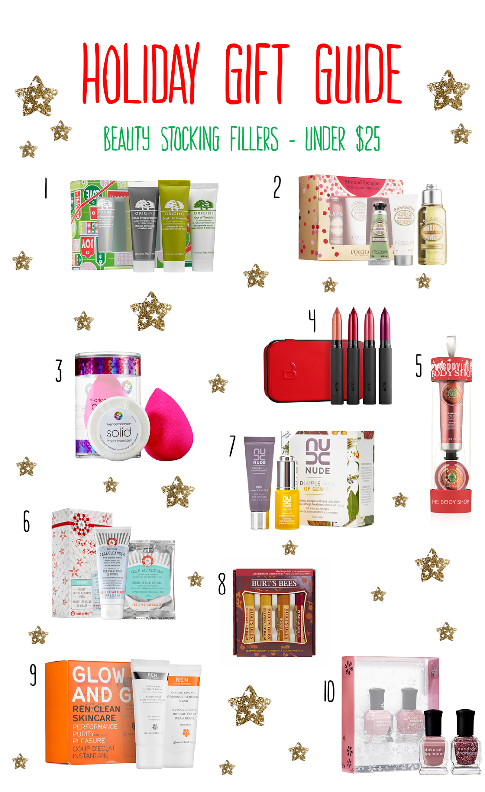 Holiday Gift Guide | Beauty Stocking Fillers Under $25
