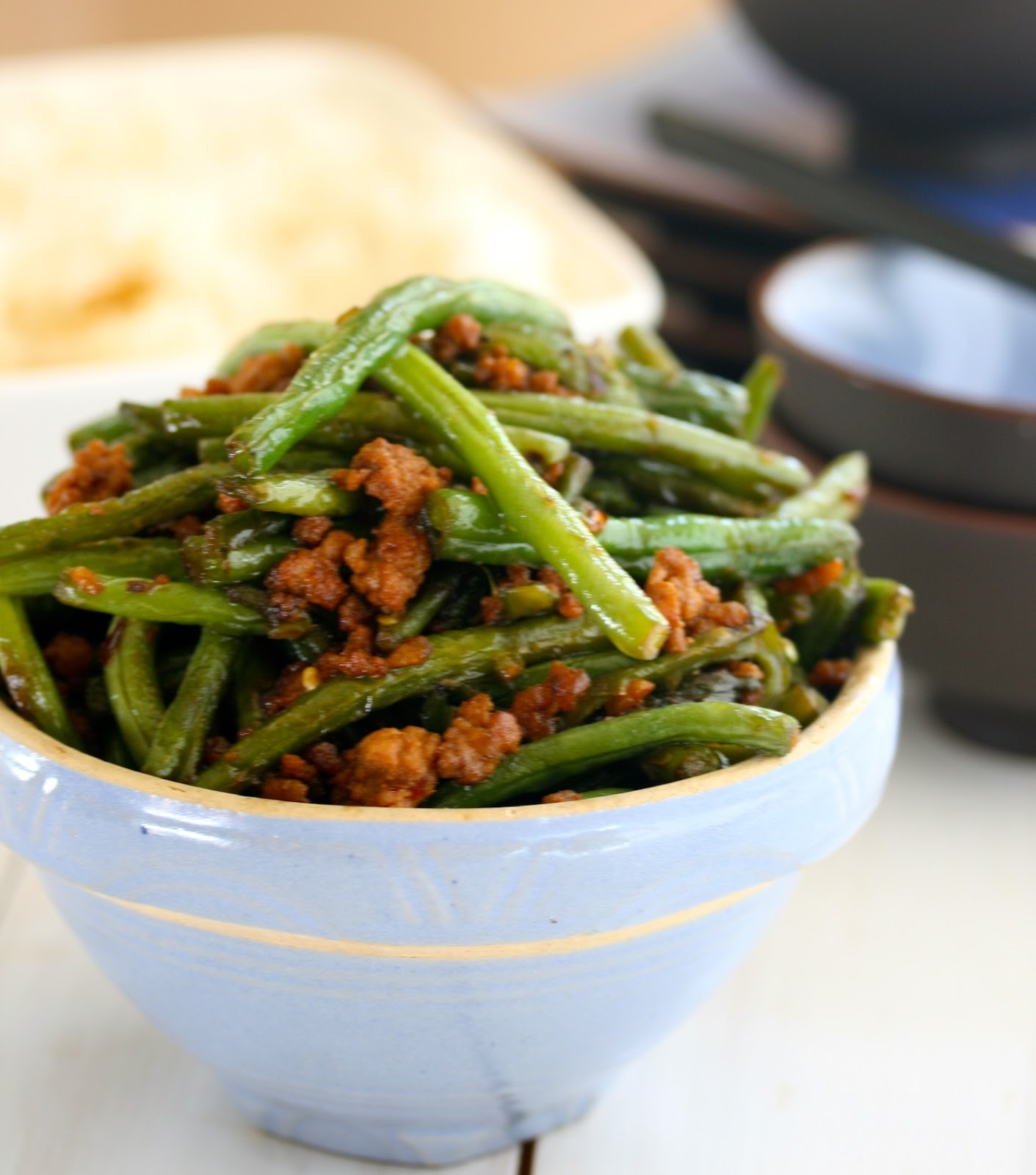 Angie Cooks In Portland: Spicy Chinese Green Beans With