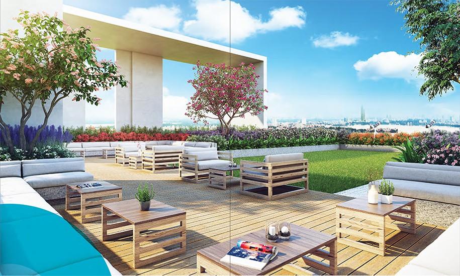 sky garden tại dự án kosmo