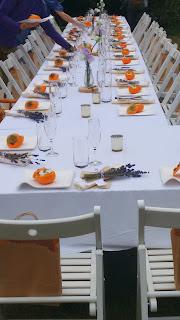 Mesa con el primer plato