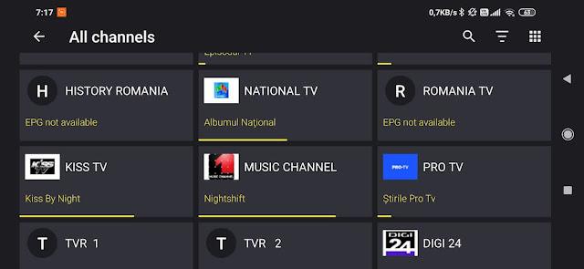 Player iptv pentru android cu epg