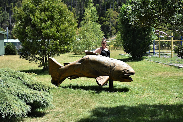 Targa the Trout | Mountain Stream Fishery Wood sculpture