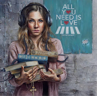 arte-realista-retratos-de-mujeres-con-audifonos mujeres-pinturas-realistas