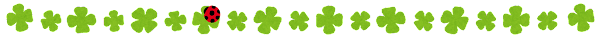 かわいいライン素材「四つ葉のクローバー・てんとう虫」