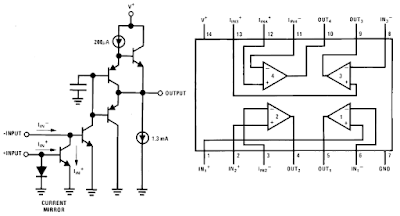 LM3900 Schematic and Connection Diagram and Datasheet