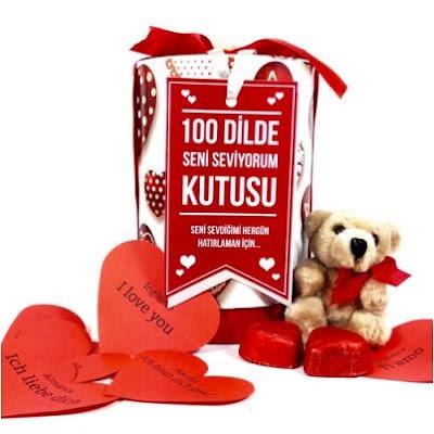 100 Dilde Seni Seviyorum Hediye Kutusu