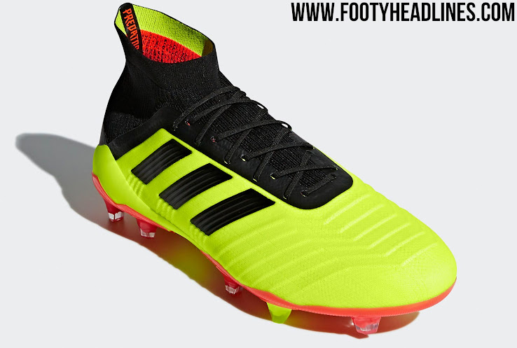 6a455a5dbb6 The Predator 2018 World Cup football boots have been released this morning.  They boast a striking look in hi-vis yellow