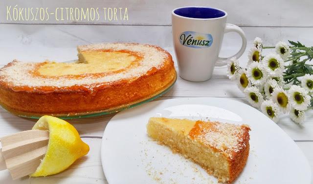 Kókuszos-citromos torta