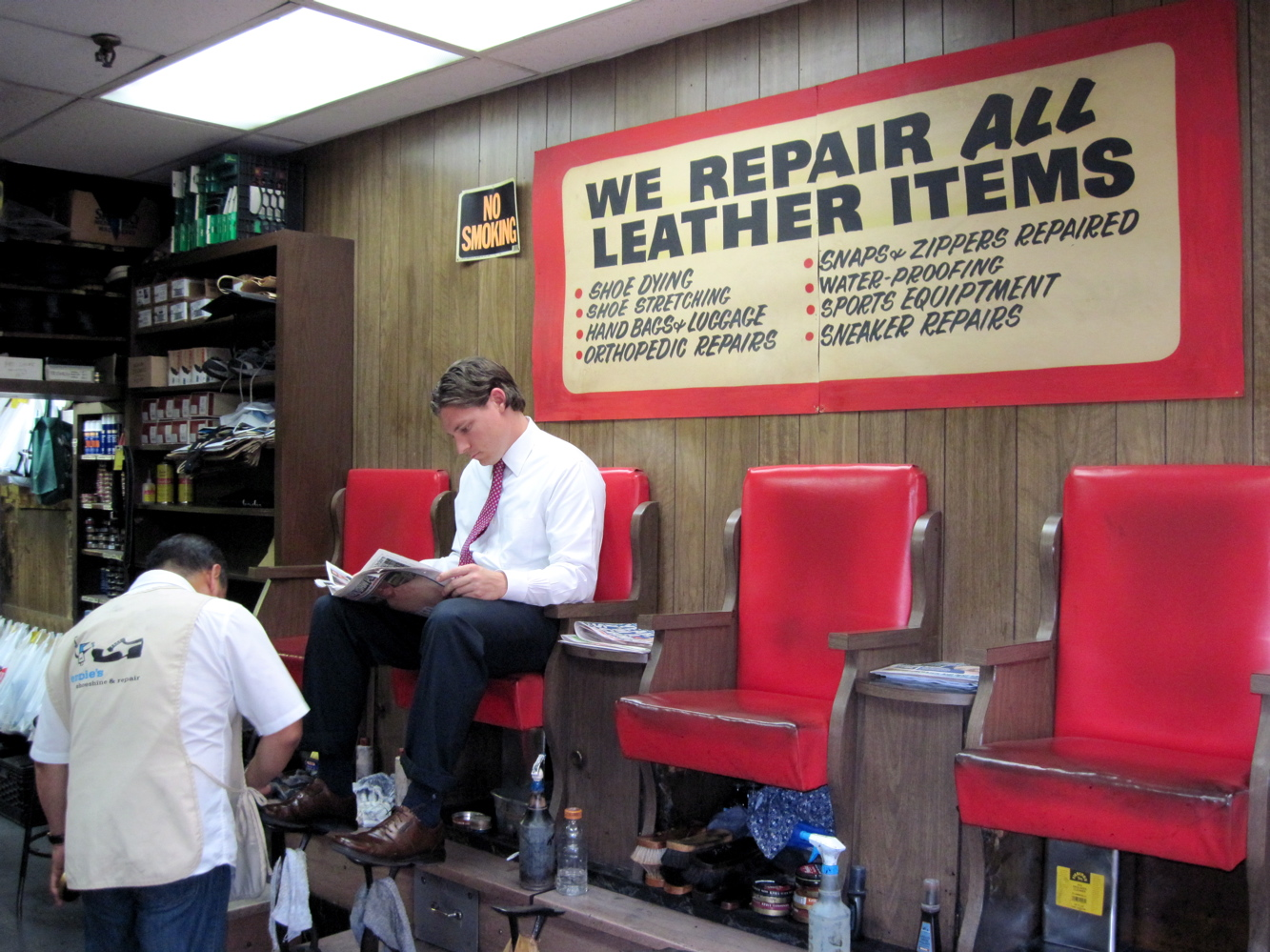 Mitch Broder's Vintage New York: Tony's Shoe Repair: He Keeps the Shine on the Family Business