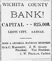 Advertisement, 30 Sep 1886 - Leoti Lance, pg. 3.