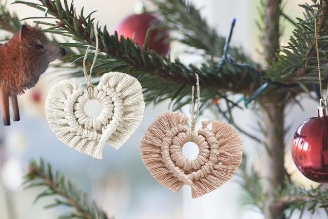 heart ornament xmas boho