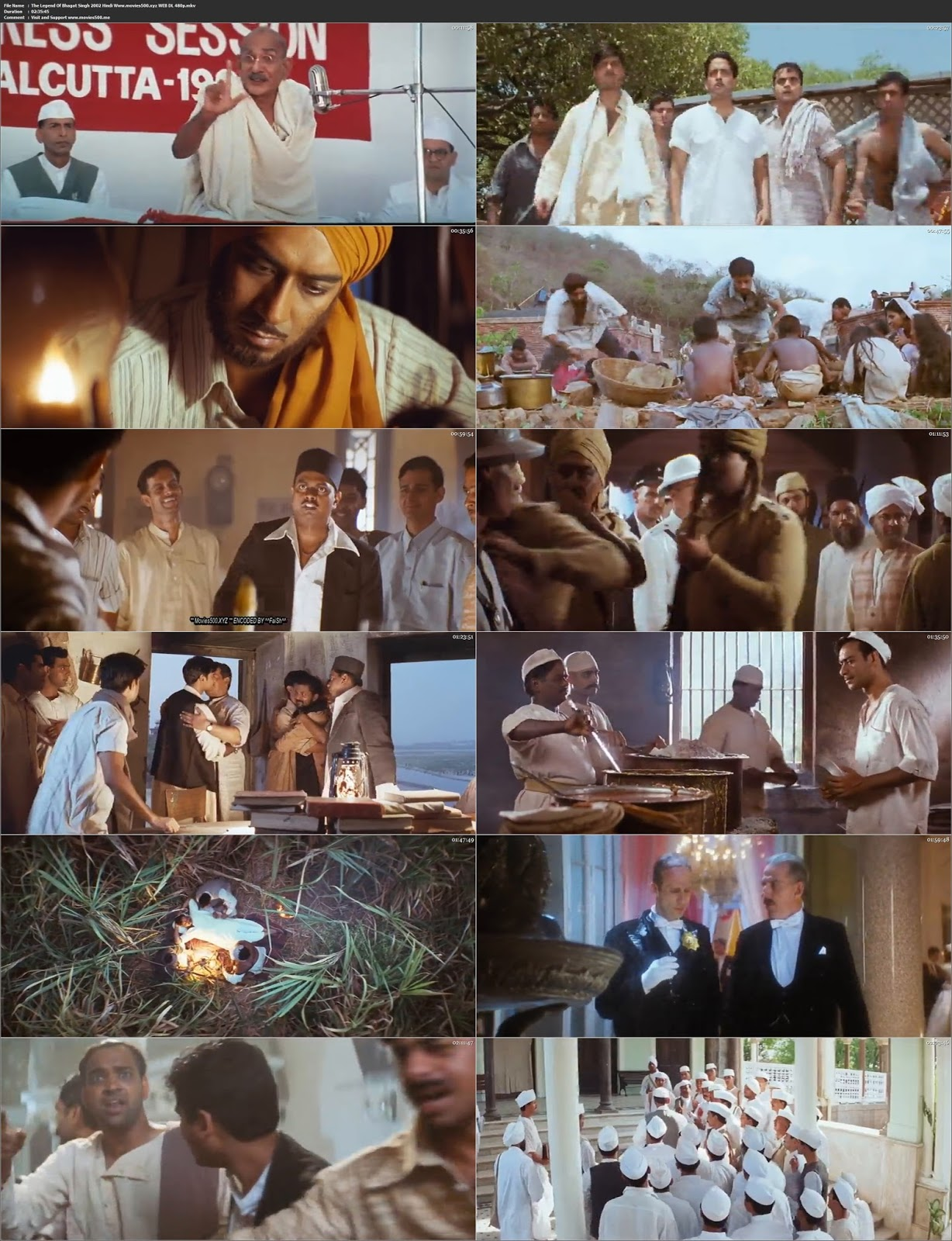 The Legend Of Bhagat Singh 2002 Bollywood 300MB WEB DL 480p at movies500.site