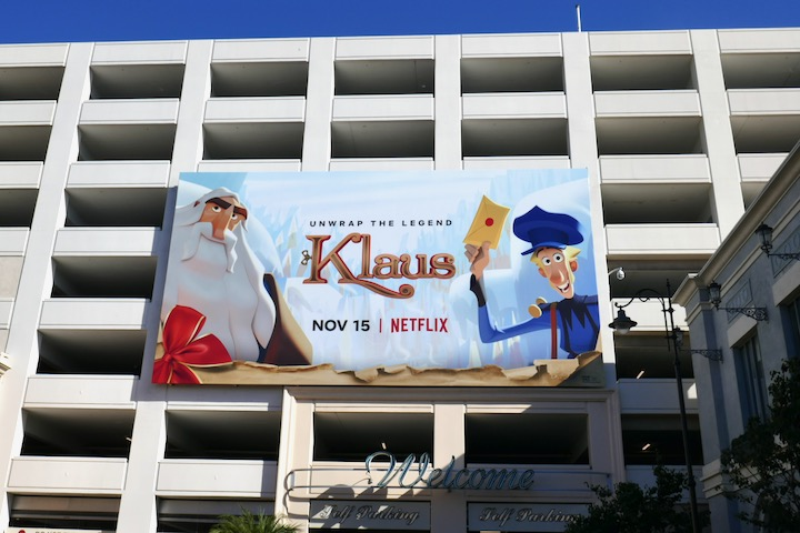 Klaus movie billboard
