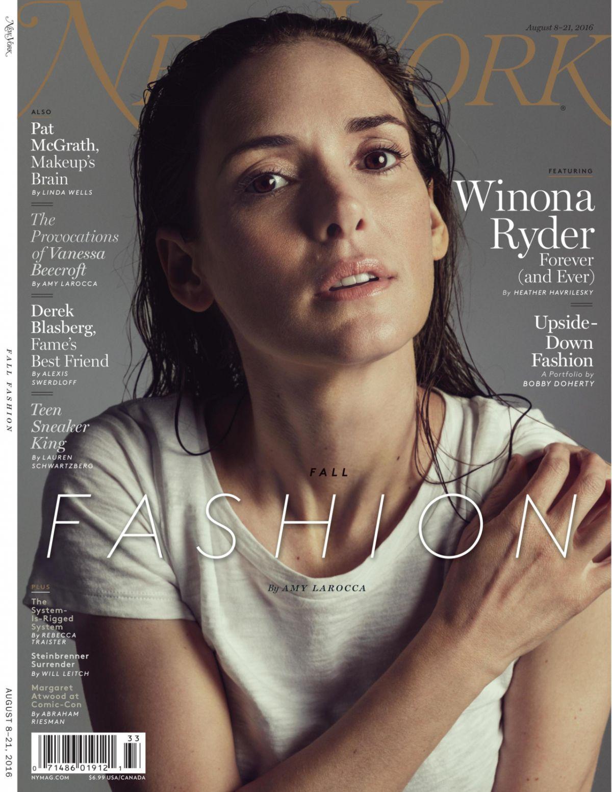 Winnona Ryder PhotoShoot for New York Magazine 2016 August Issue