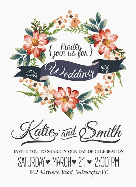Floral Wedding Invitation Images free