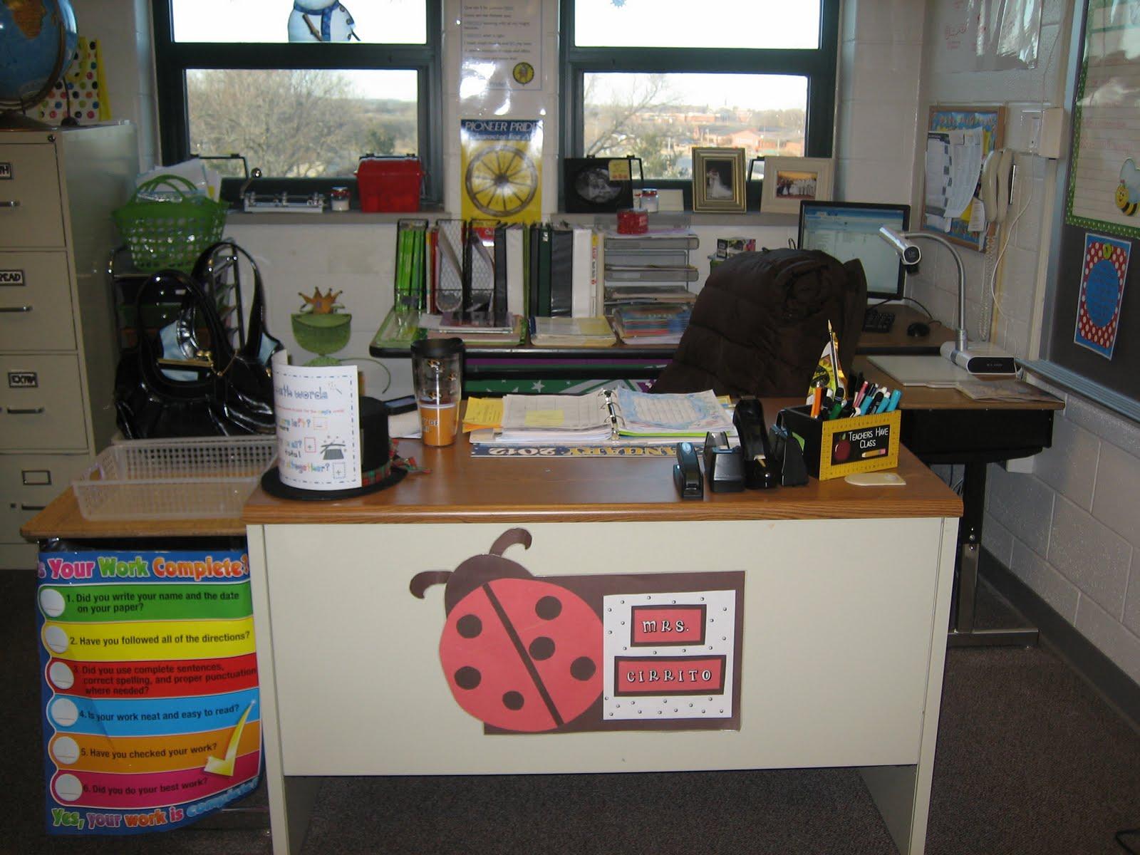 Teacher Desk Writers Work And Sunflowers Oh My