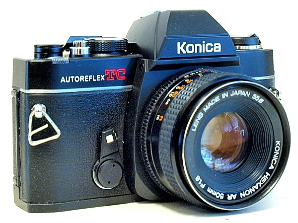 Konica Autoreflex TC, View, Left Front