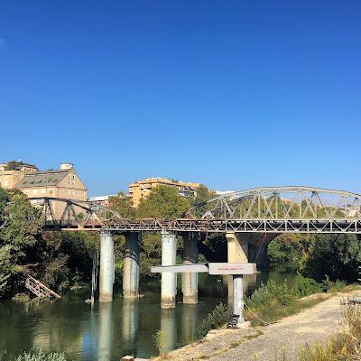 Ponte dell'Industria danni incendio