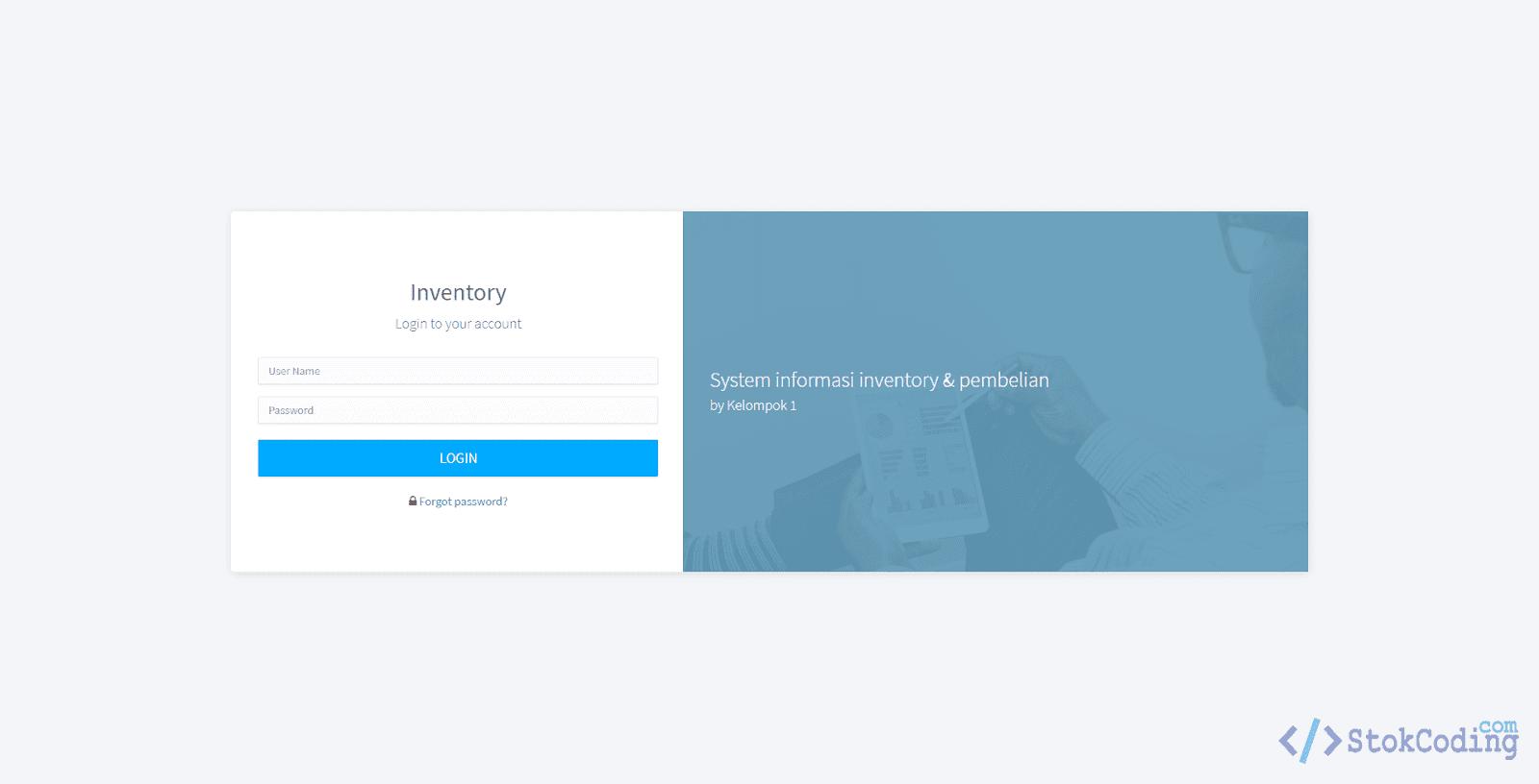 Sistem Informasi Inventory Berbasis Web (Codeigniter)