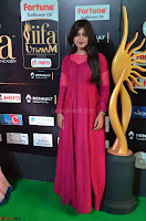 Monal Gajjar in Maroon Gown Stunning Cute Beauty at IIFA Utsavam Awards 2017 014.JPG