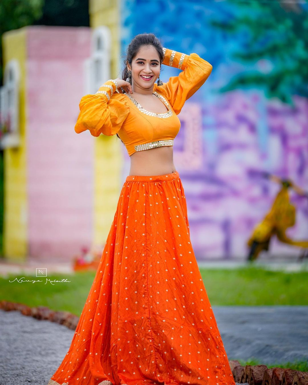 Deepthi Sunaina Pics In Bridal Lehenga Photos