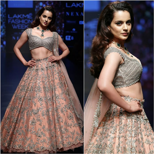 Kangana Ranaut Walked The Ramp For Anushree Reddy